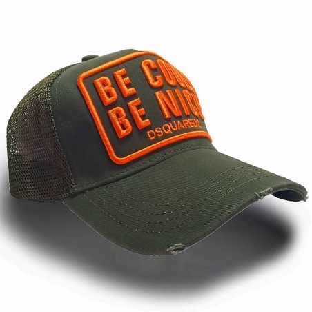 CASQUETTE DSQUARED2 BE NICE BE COOL OLIVE