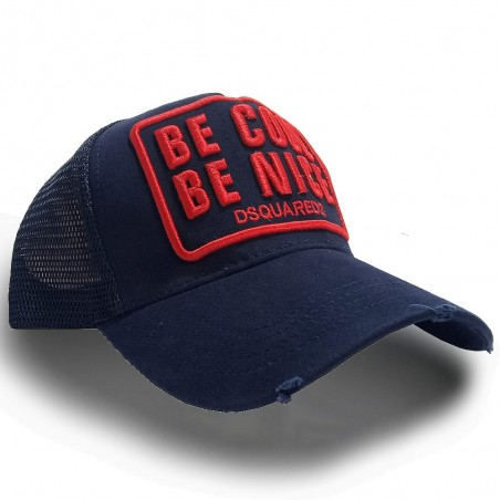 CASQUETTE DSQUARED2 BE NICE BE COOL ROUGE