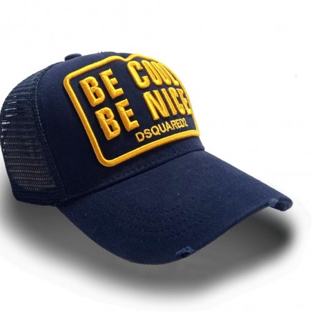 CASQUETTE DSQUARED2 BE NICE BE COOL JAUNE